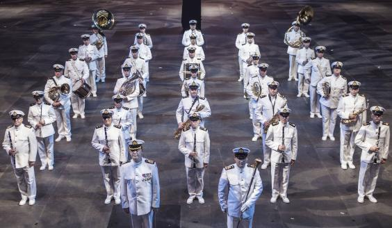 The Finnish Navy Band, picture by the Finnish Defence Forces / Paavo Terva